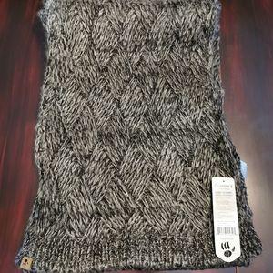 BearPaw Black & Taupe Long Knit Scarf